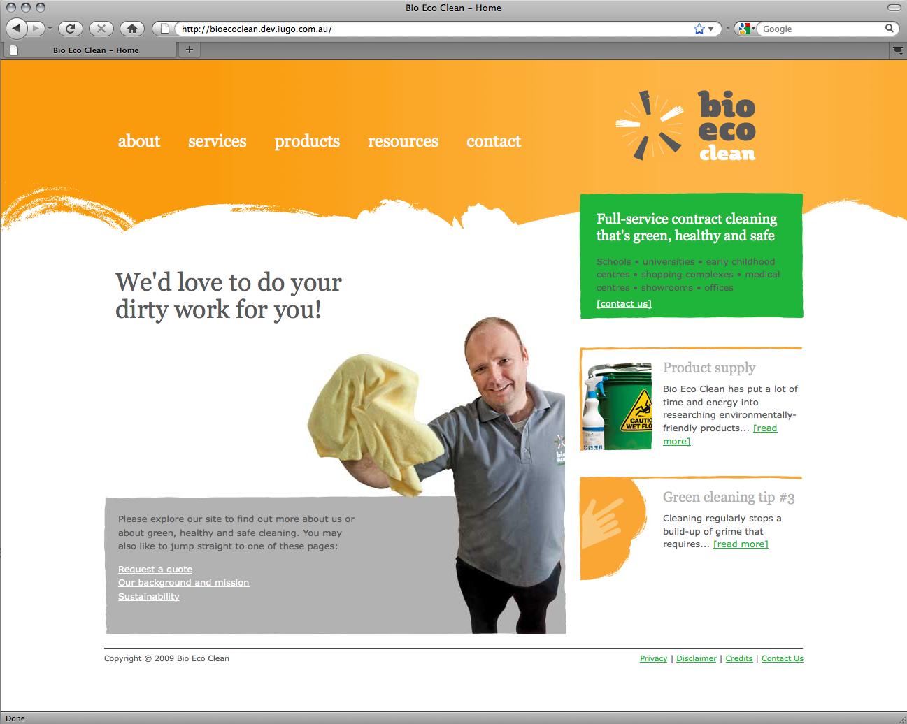 Bio Eco Clean - Website